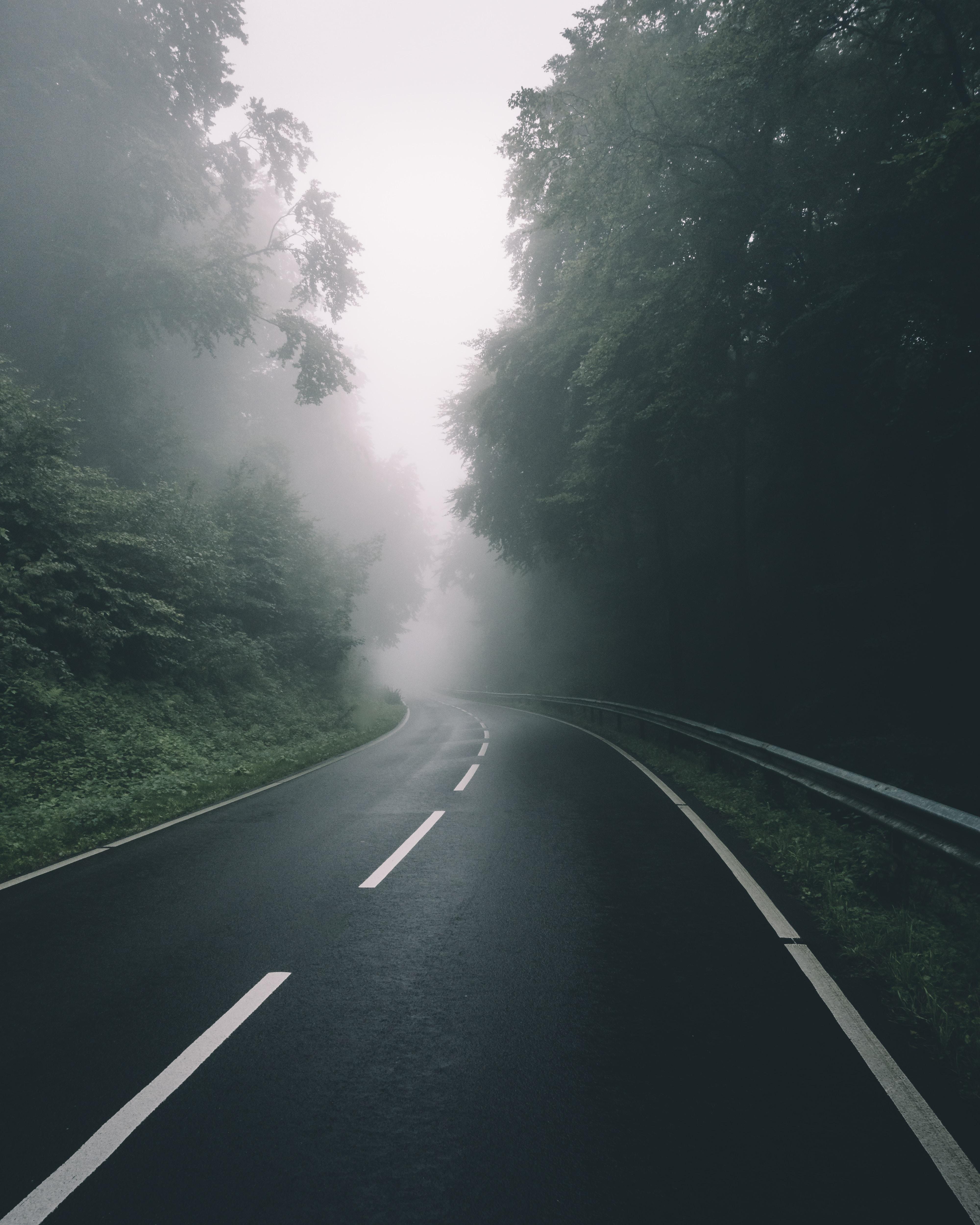 black concrete road during daytime