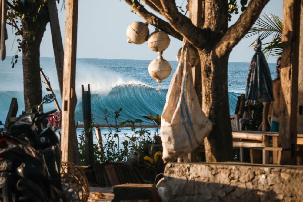 cottage near ocean waves during daytime