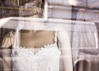 mannequin wearing lace dress