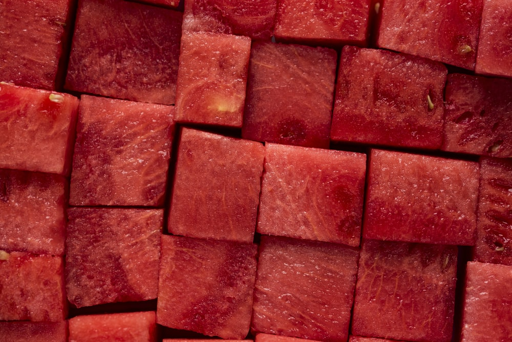 diced watermelon