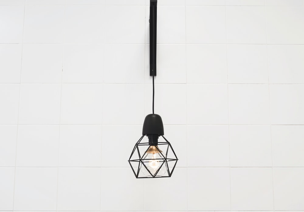 pendant lamp hanged on white room