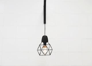 pendant lamp hanged on white room