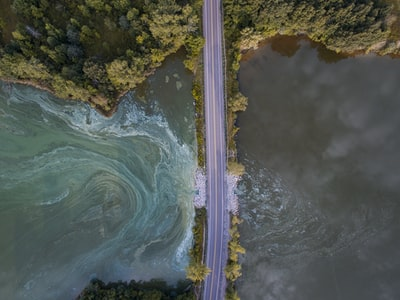 Storm water runoff in Michigan lakes and rivers