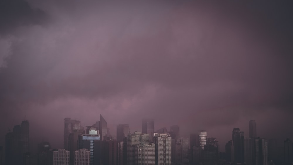 aerial photo of skyscraper