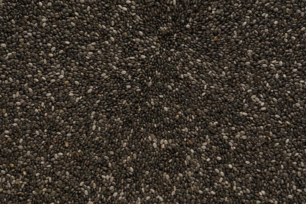 black and gray pebbles