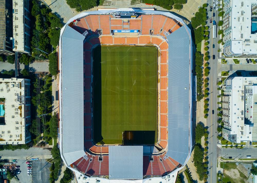 aerial photography of sports stadium
