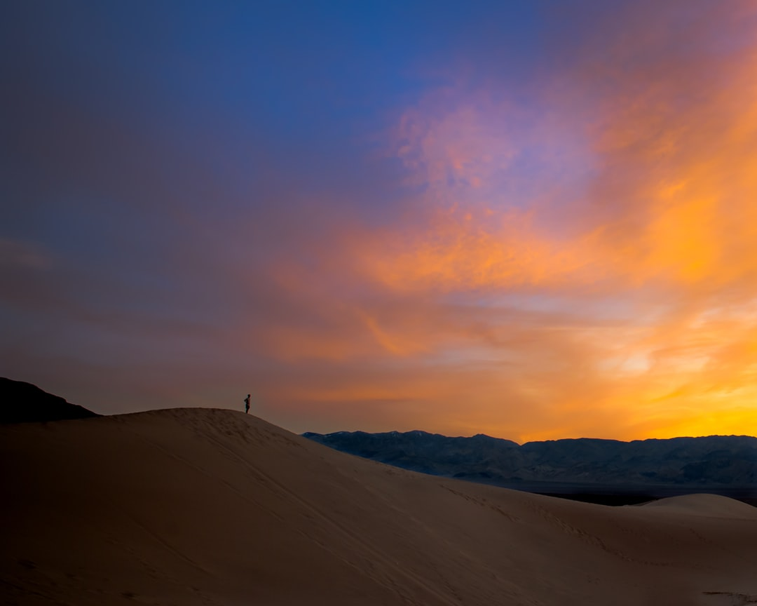 Sunset on the dunes in Death Valley NP