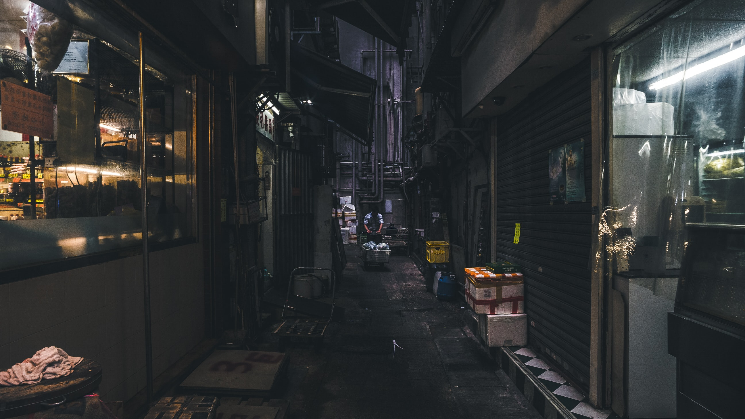 street at night time
