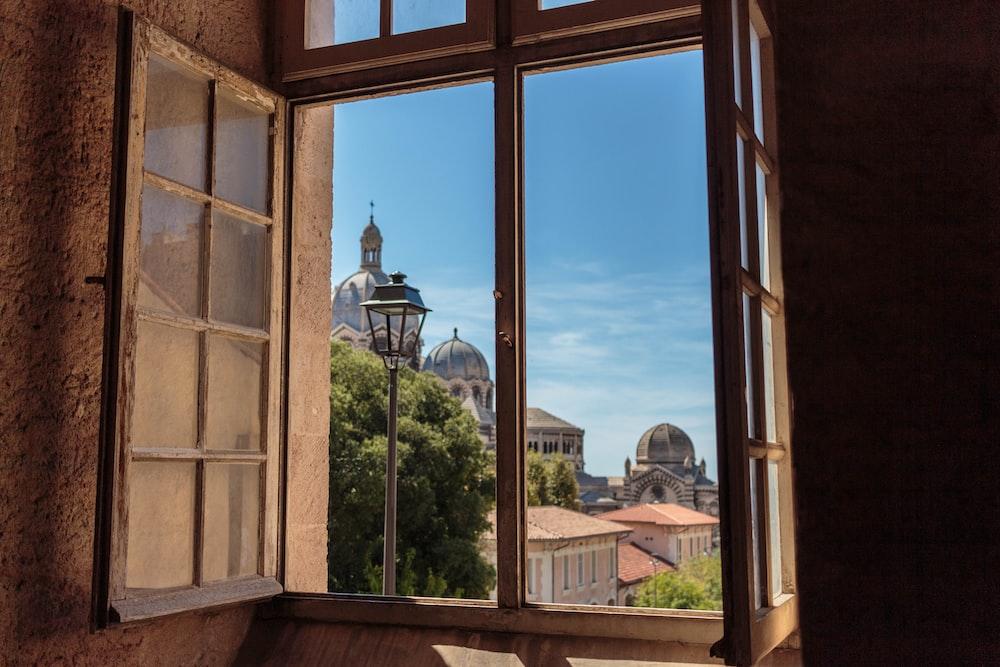 opened window at daytime
