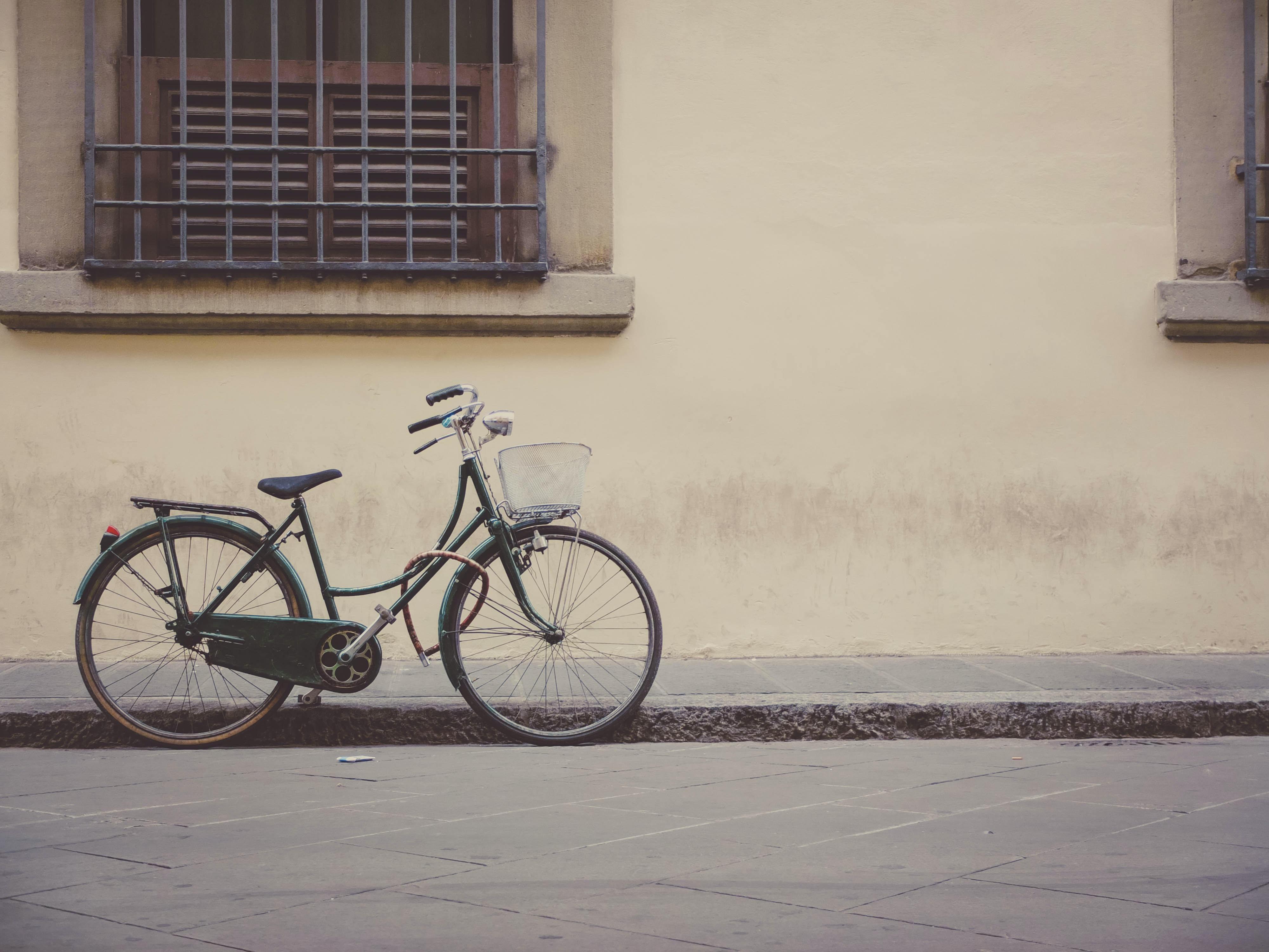 black step-through bike