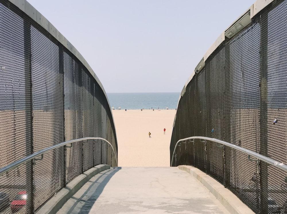 bridge heading beach