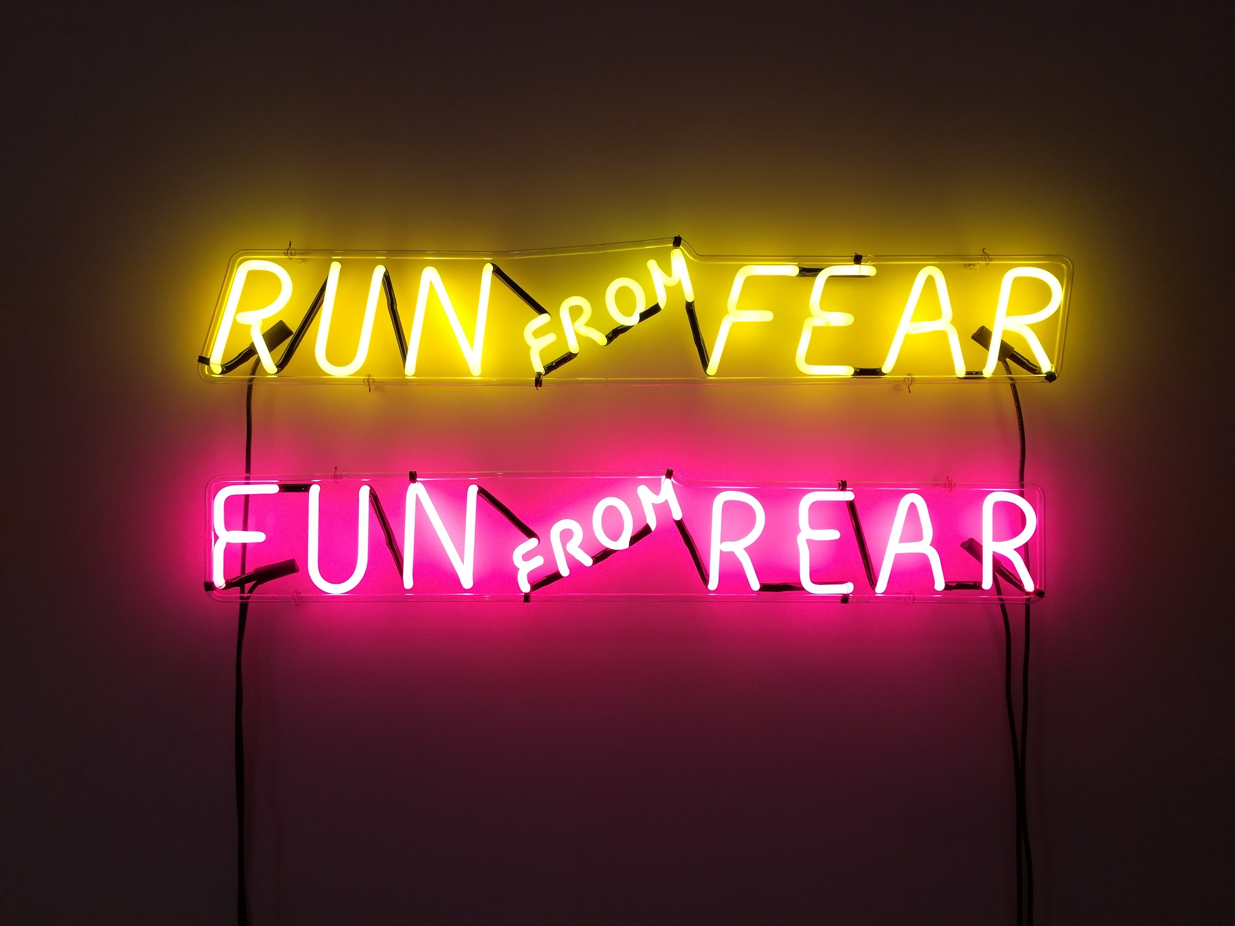 run frfom fear fun from rear LED signage