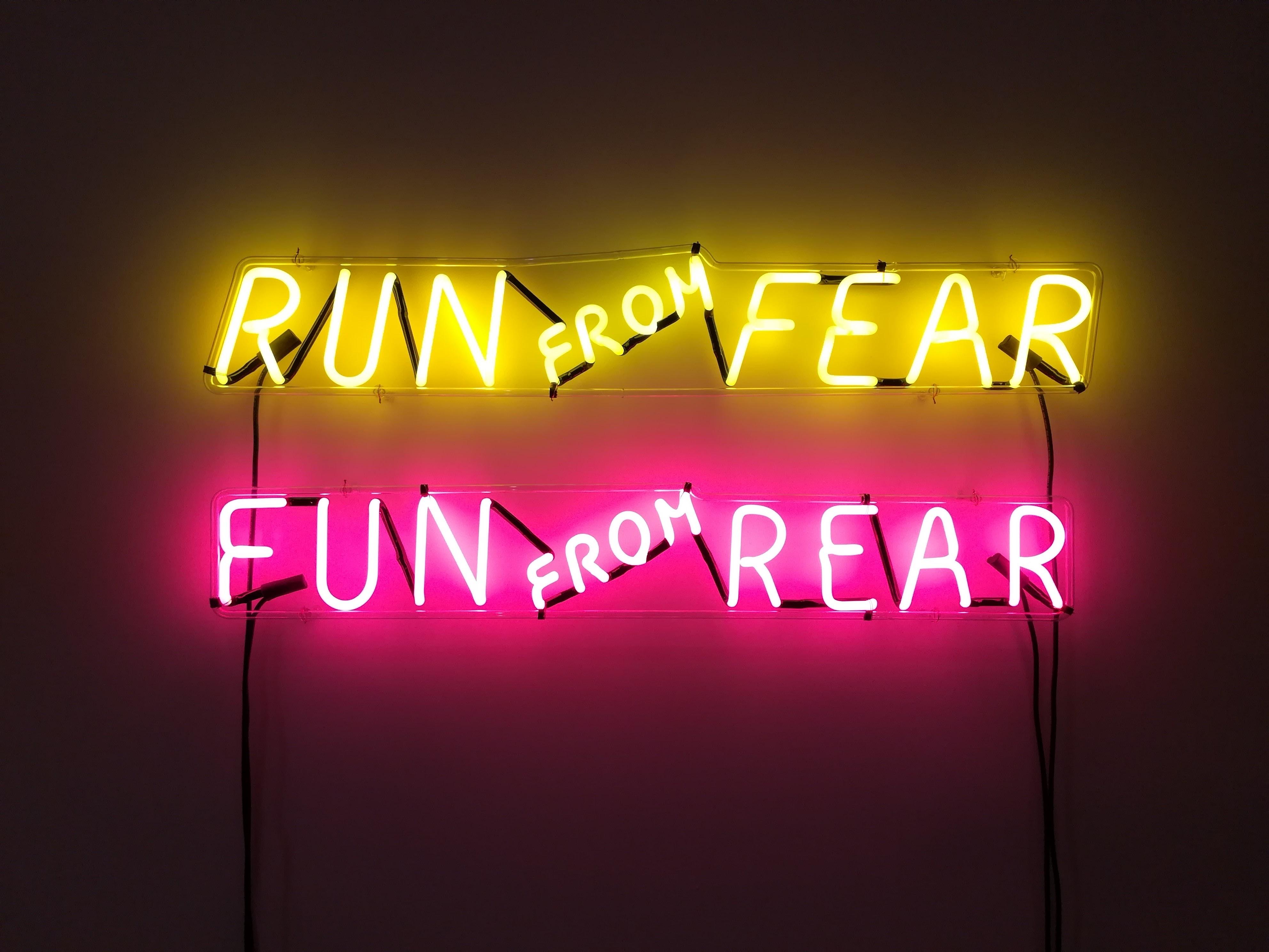 run frfom fear fun from rear LED signage