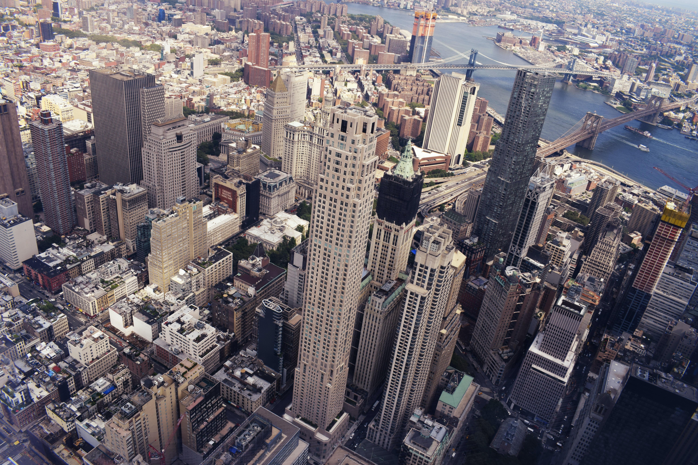 birds eye view of cityscape