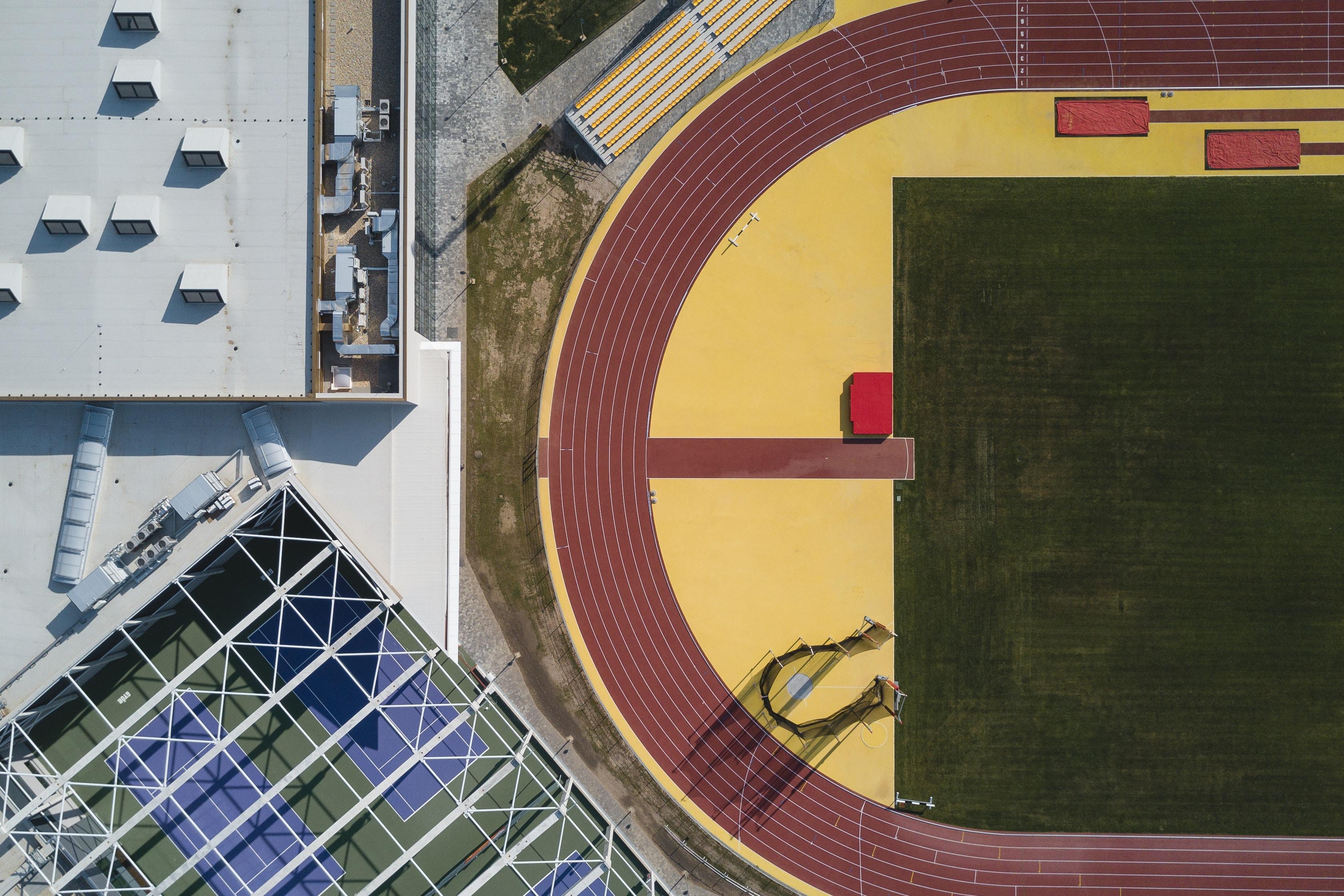 top view of stadium