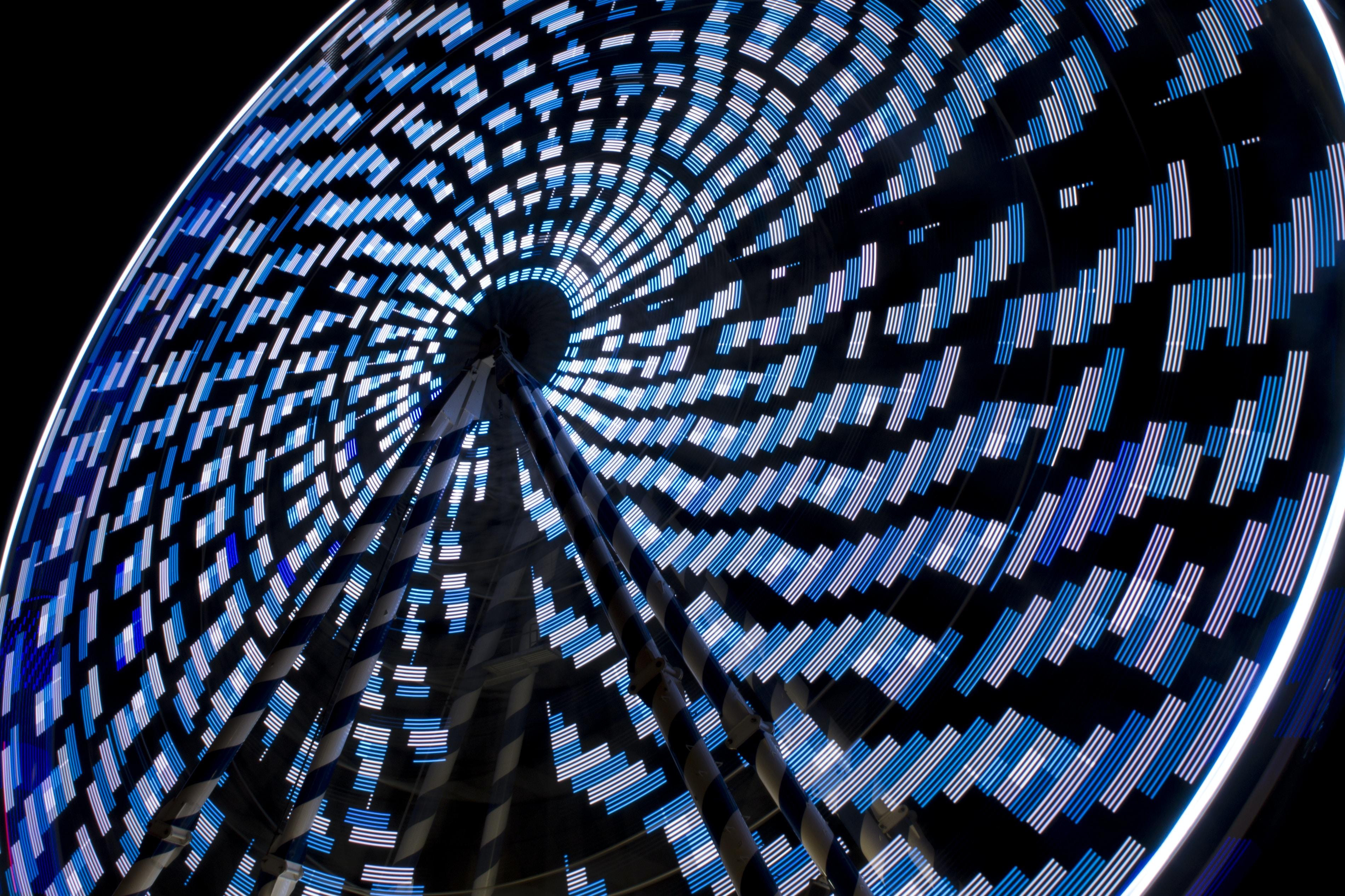 time lapse photo of ferris wheel