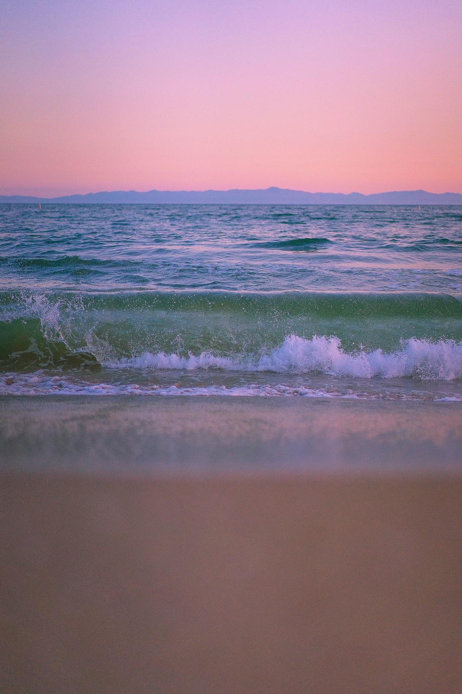 beach wave on white sand
