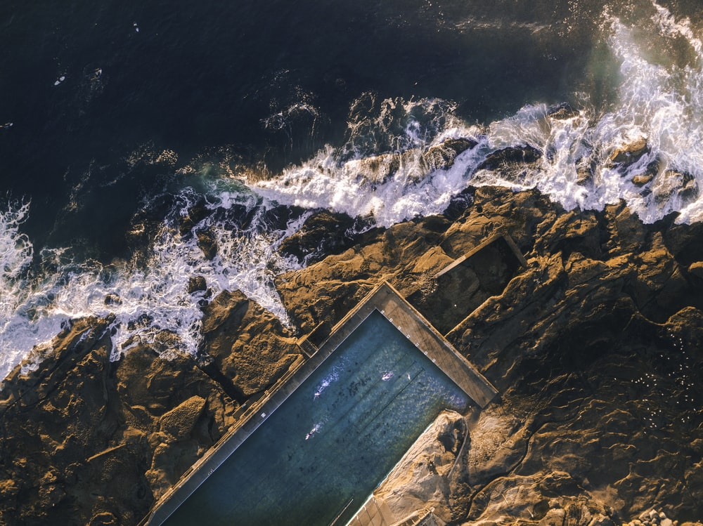 aerial shot of body of water during daytime