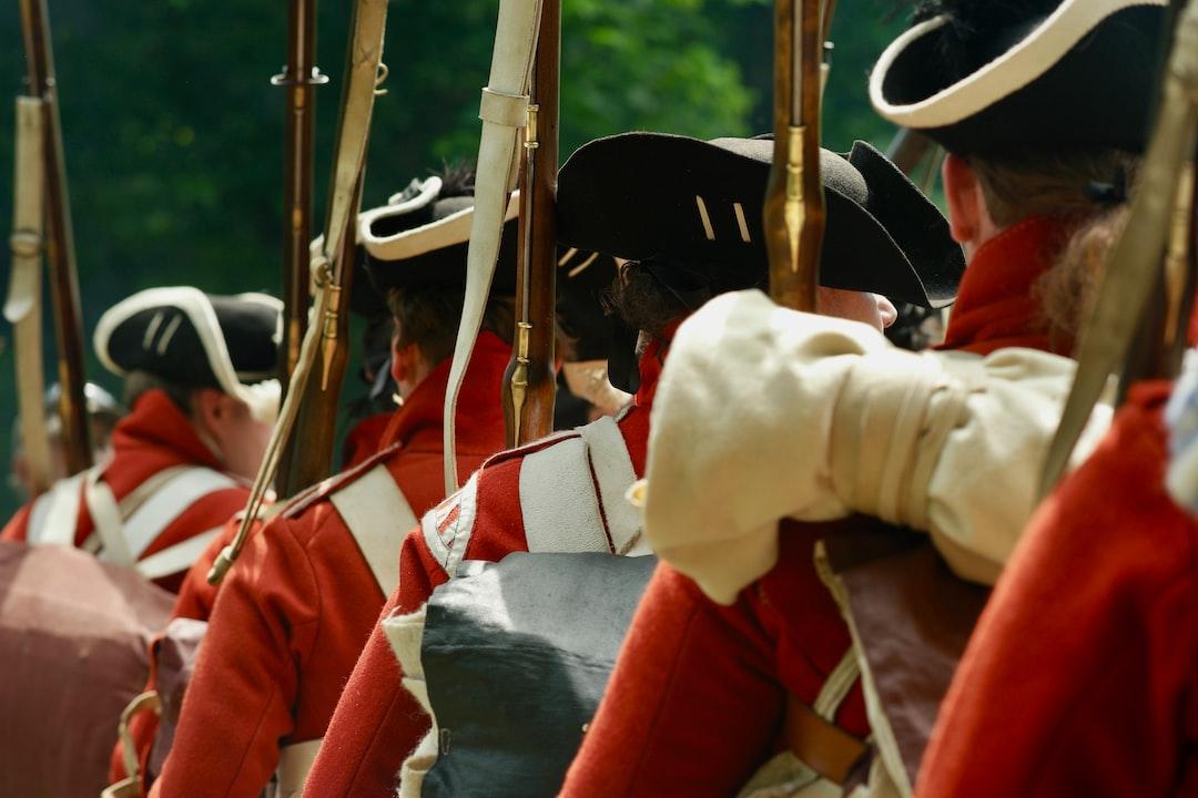 Civil war soldier in formation