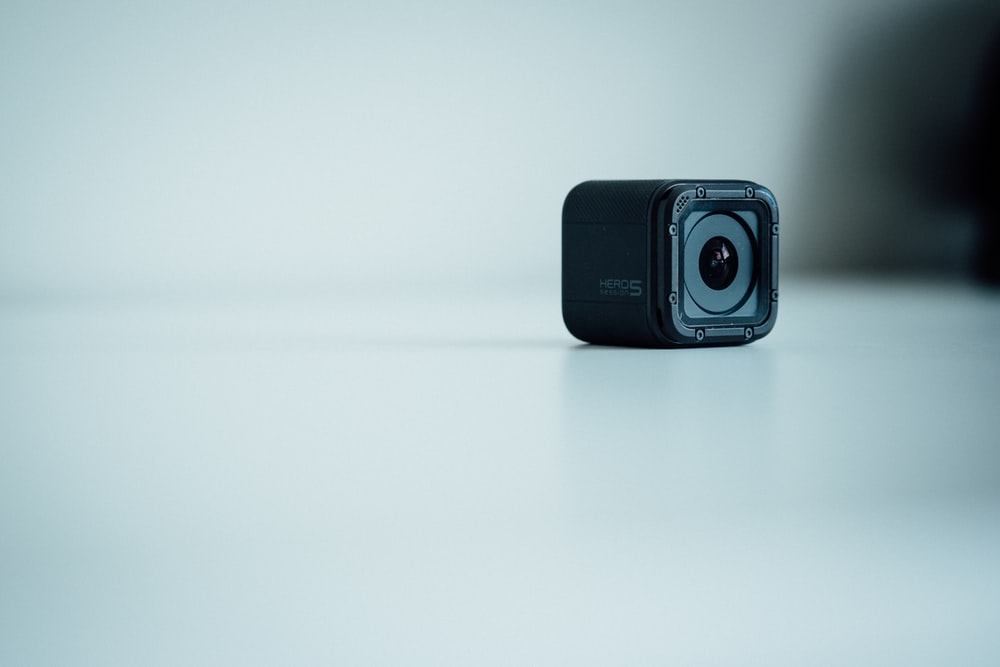 selective focus photography of GoPro Session