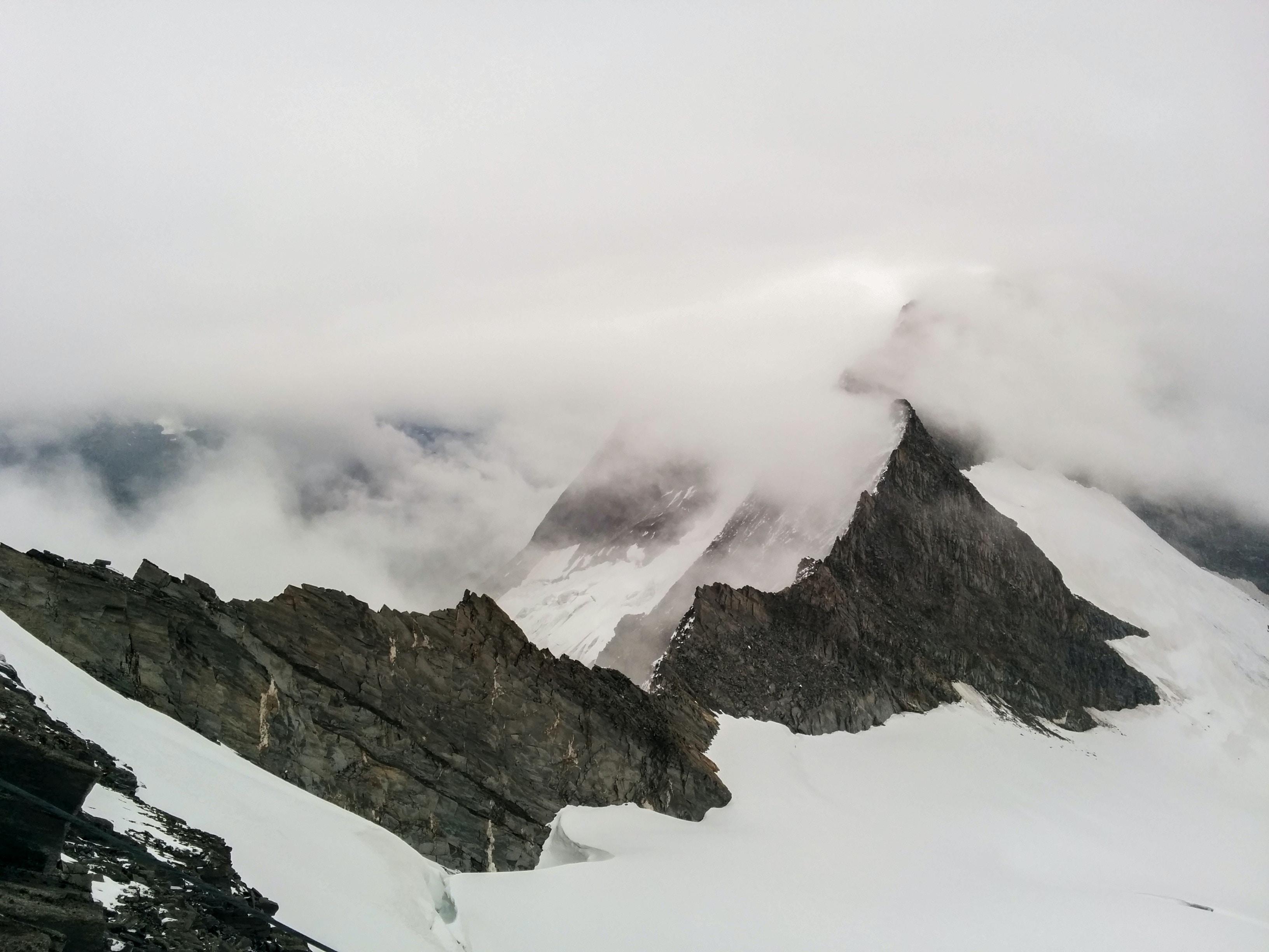 black and white mountains