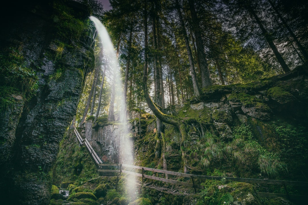 The Menzenschwander waterfalls. Menzenschwand is a climatic health resort and part of the town of St. Blasien in the Black Forest in Baden-Wurttemberg, Germany.
