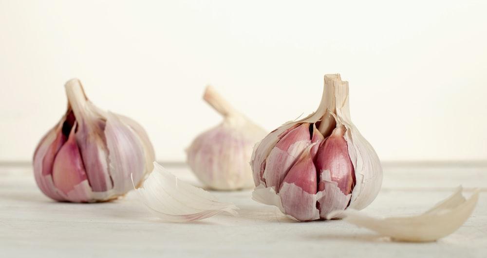 three garlic cloves