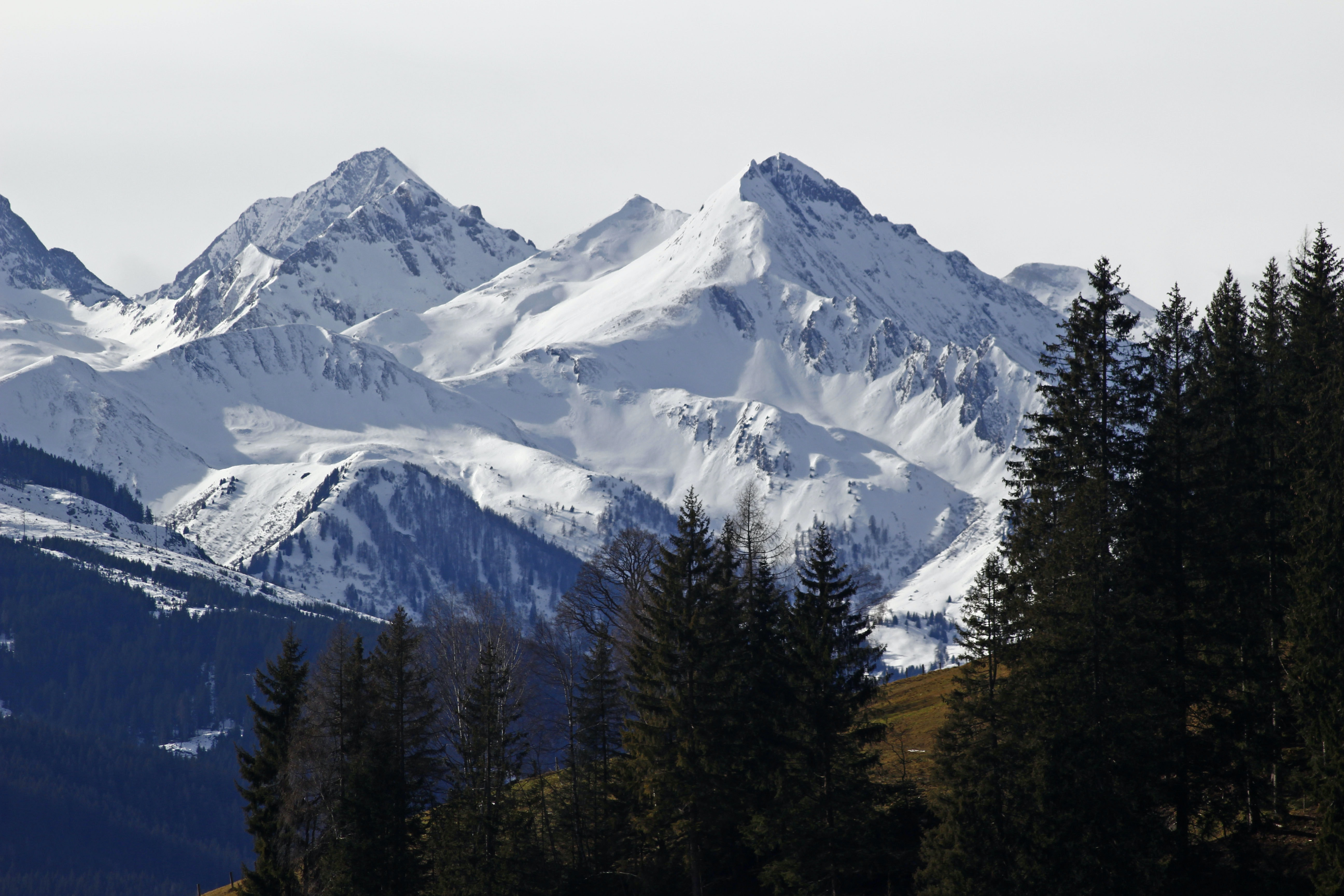 mountains covered with snow during daytime