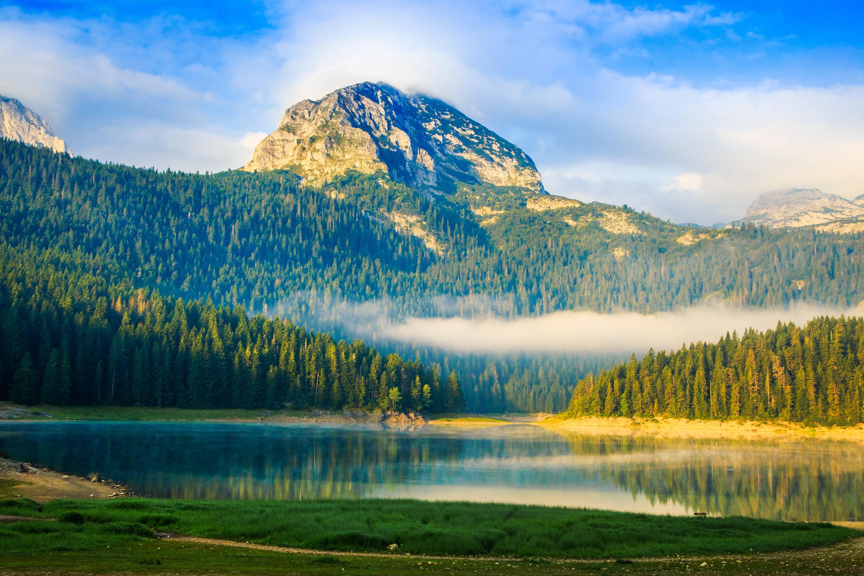 lake near mountain