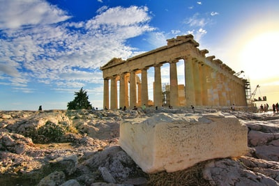 parthenon, greece greece teams background