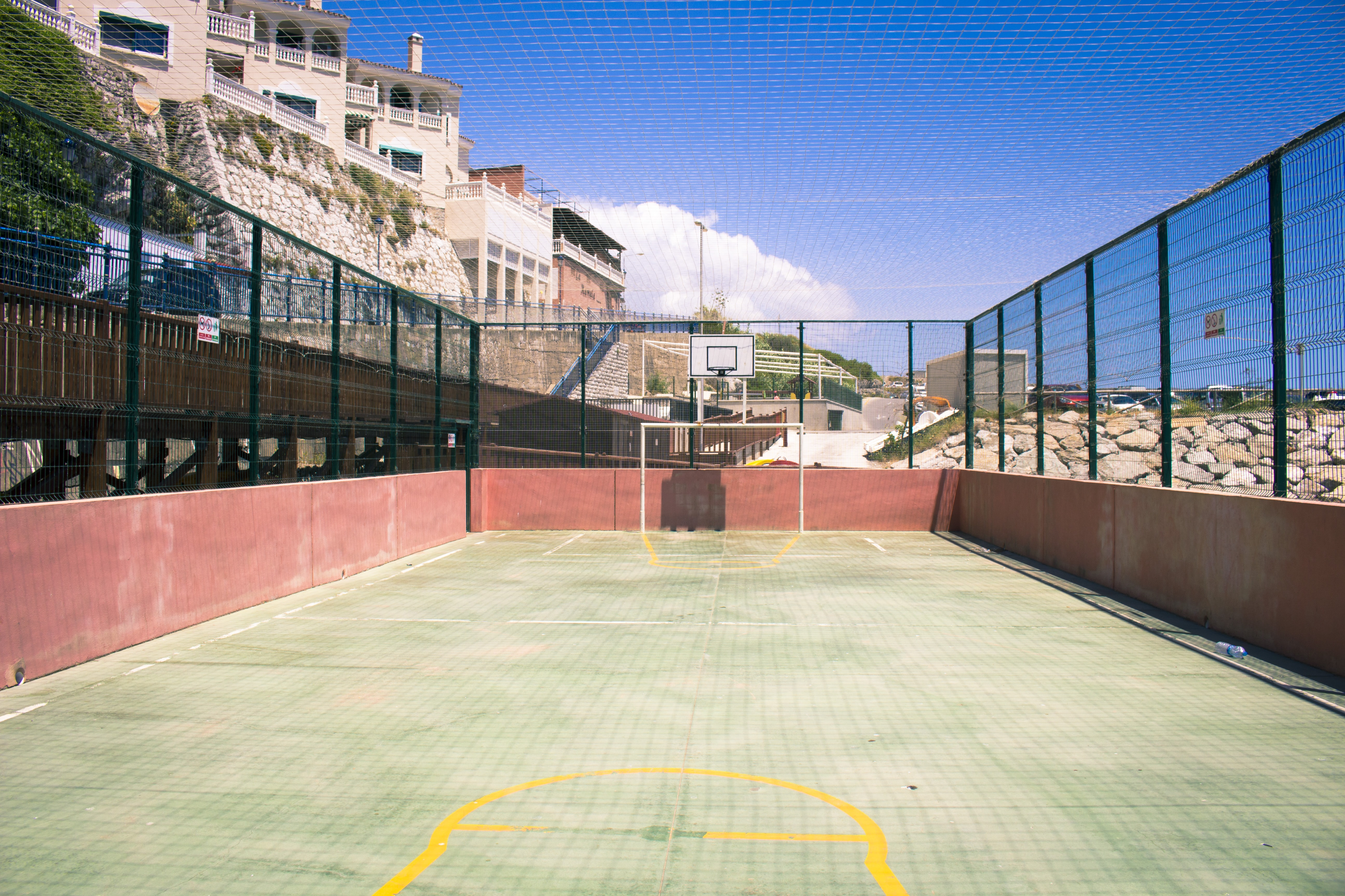 green concrete court