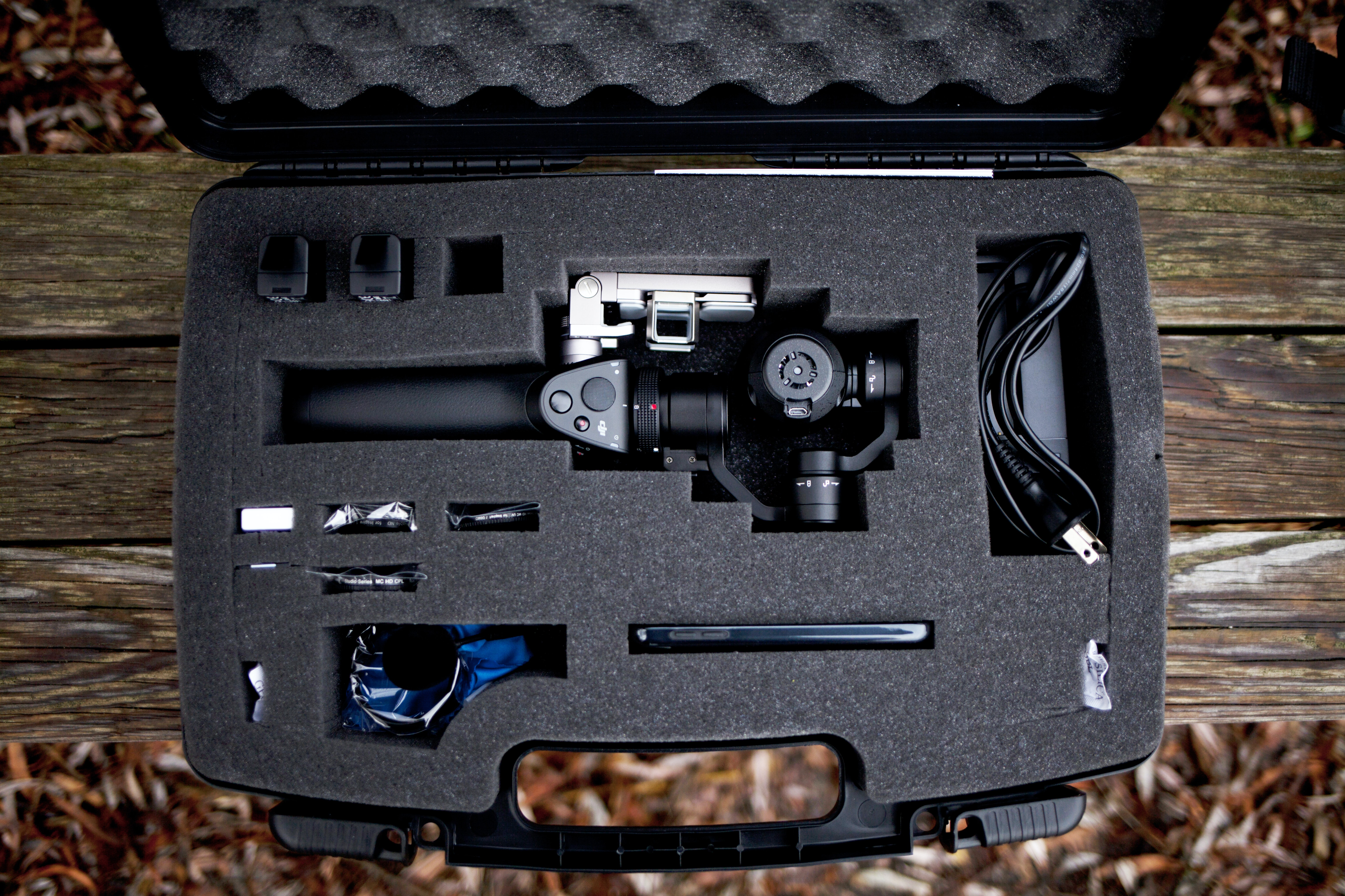 flat-lay photo of camera stabilizer
