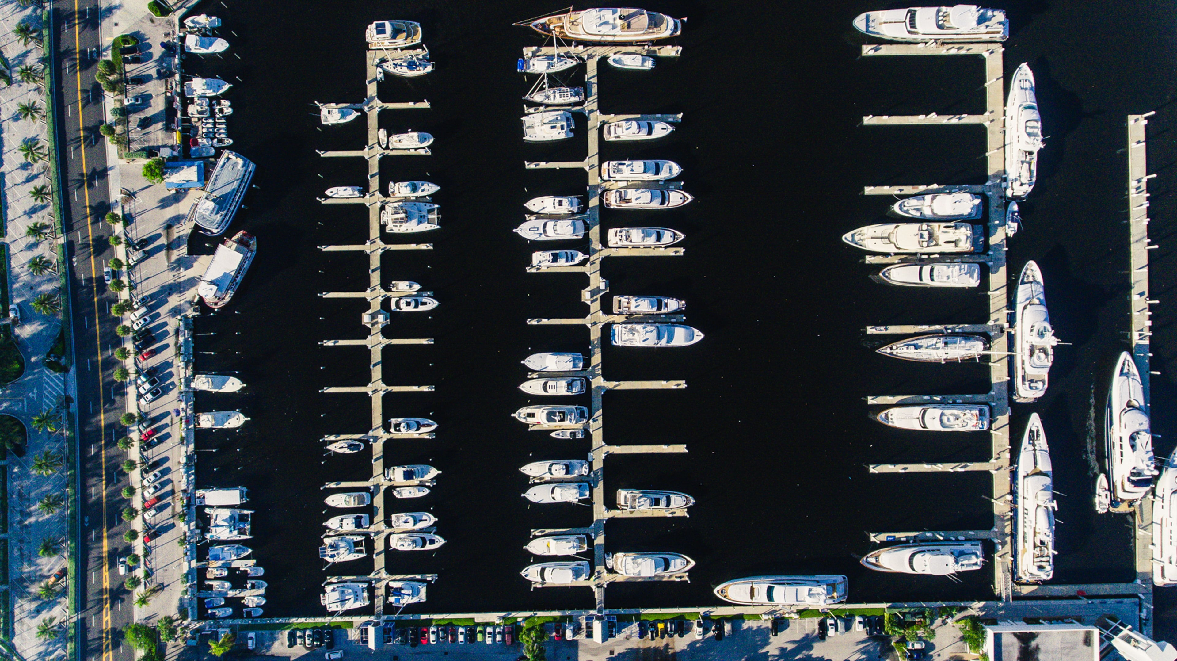 aerial view photography of boat dock