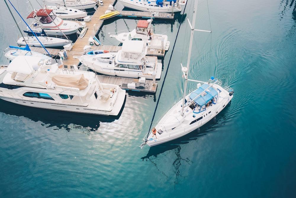 boat on body of water near dock