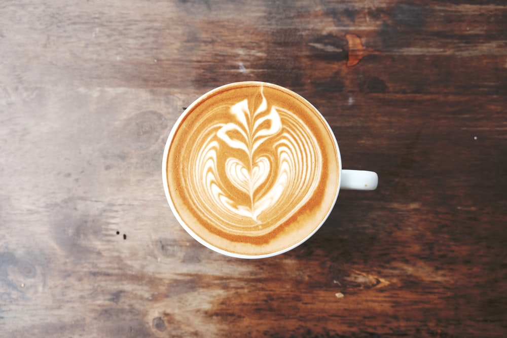 coffee on white ceramic mug