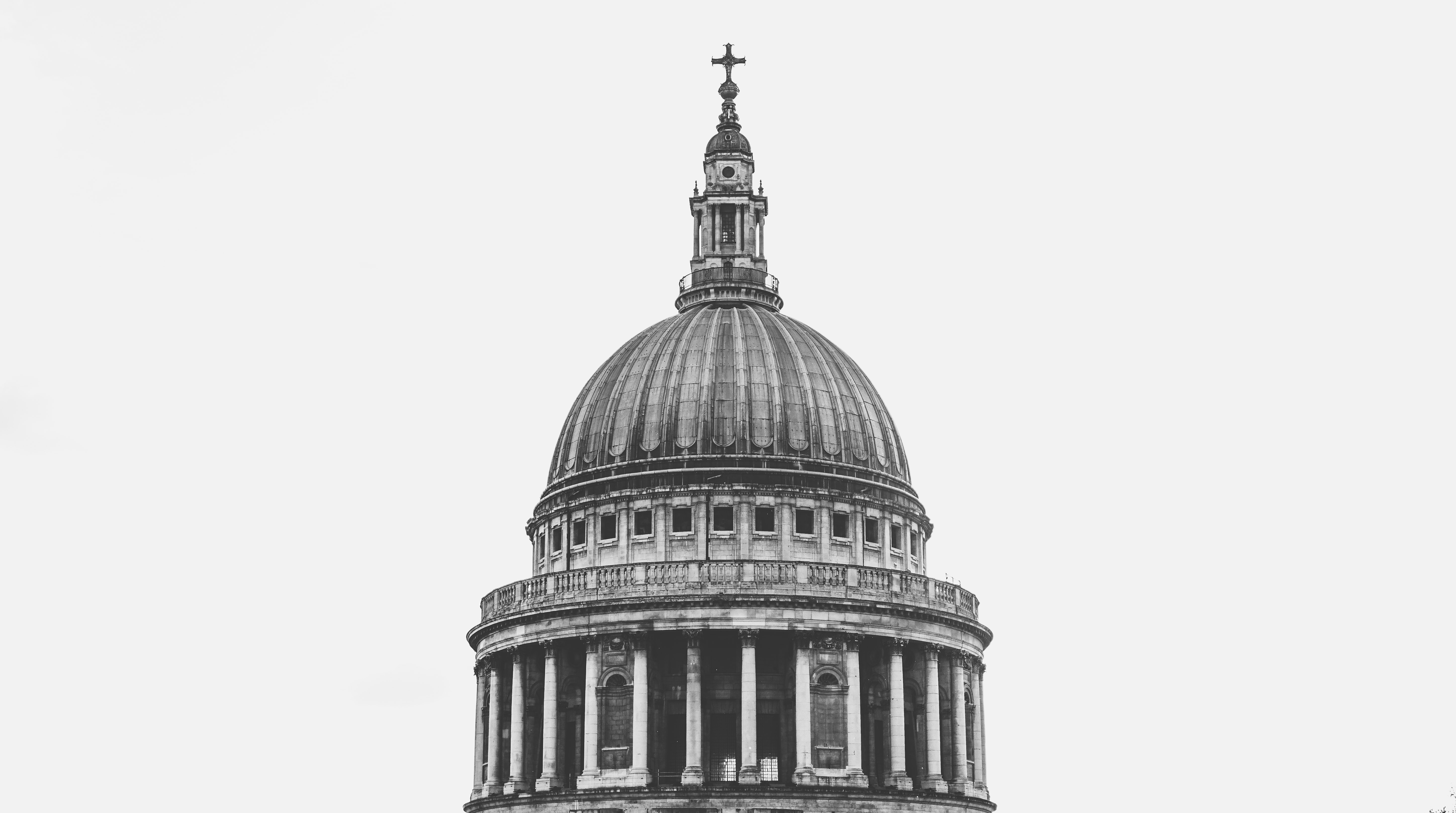 dome building with cross on top