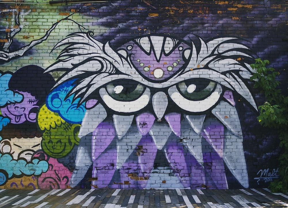 owl wall mural