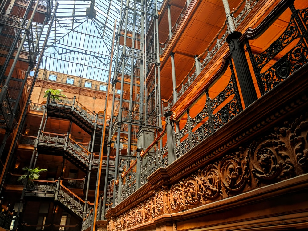 Los angeles, united states, bradbury building and office