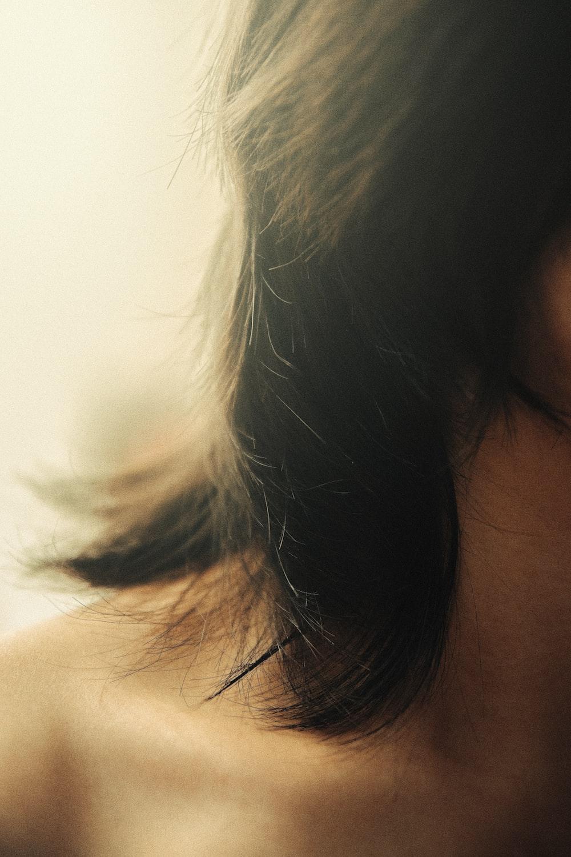 topless woman closeup photography