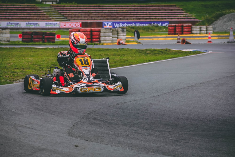 red and black go kart