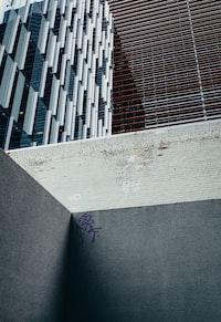 concrete building's base