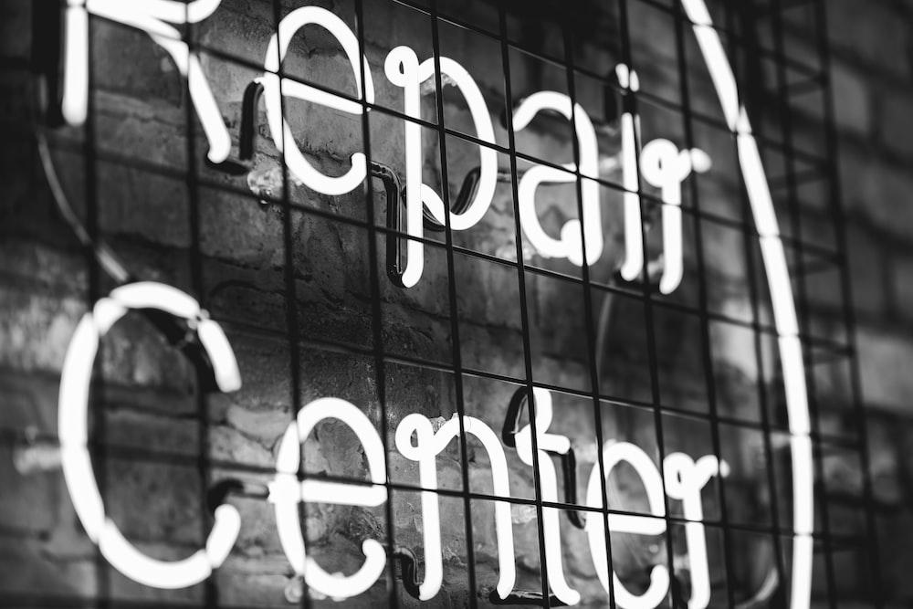 Repair Center neon LED signboard