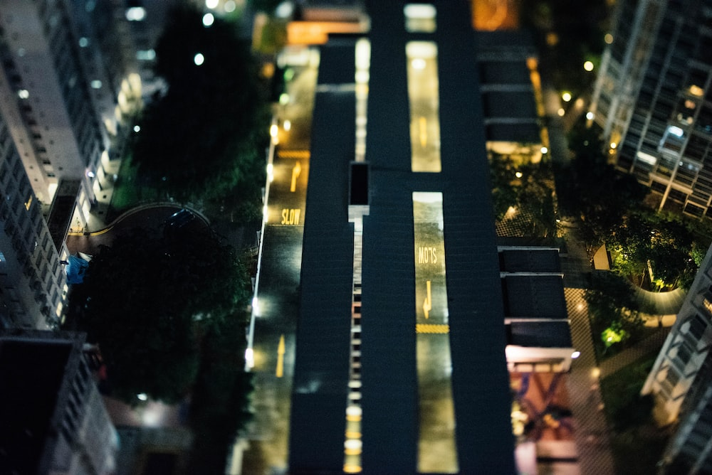 aerial photography of high-rise building