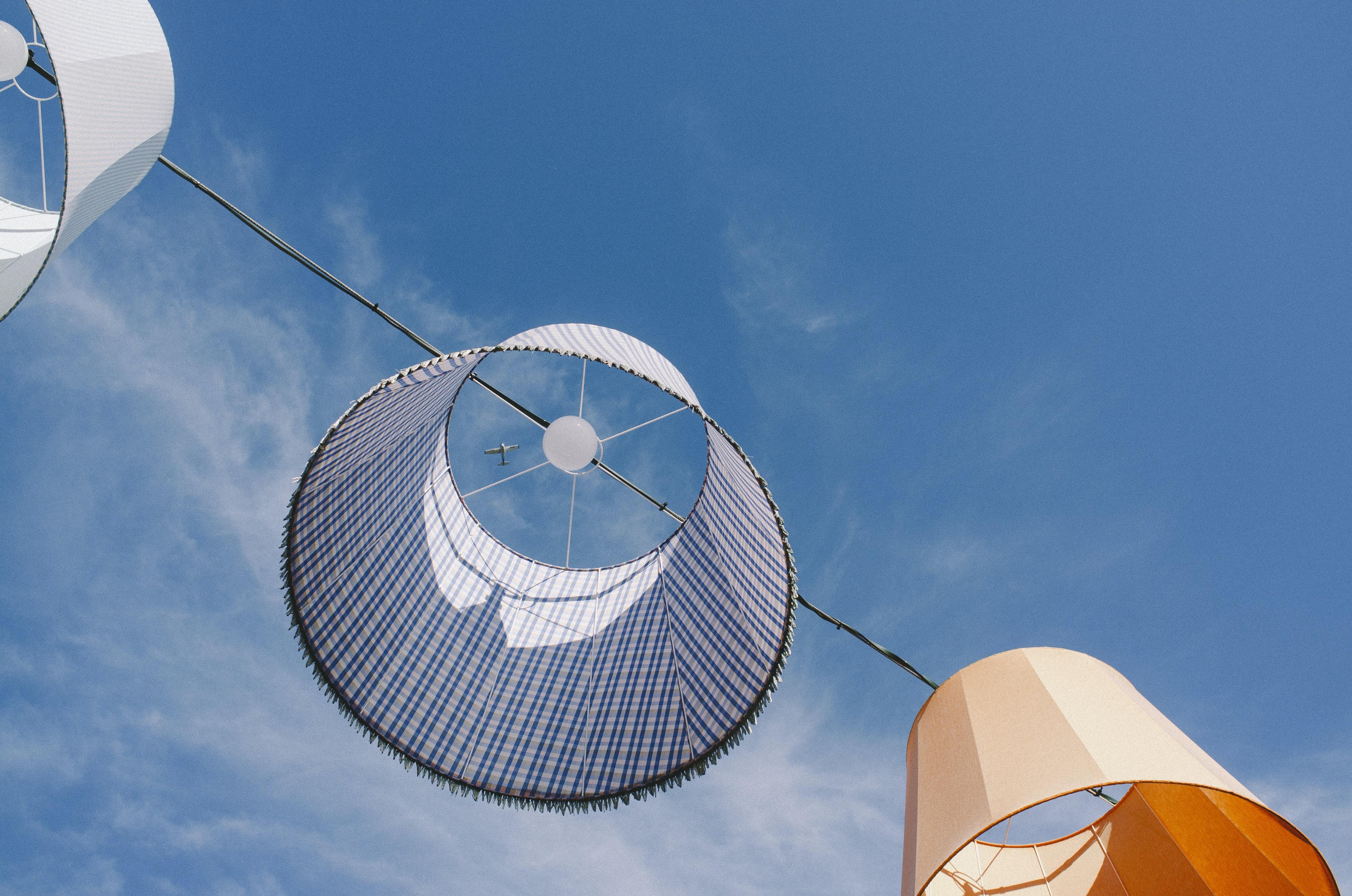 bottom view lampshade hanging