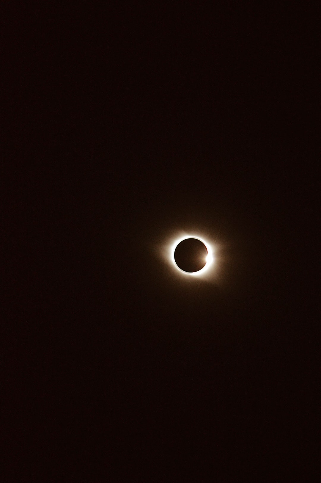 Just out front of the farmhouse. When the moon crossed between us and the sun. Someone said this was a diamond ring. I hope you like it.