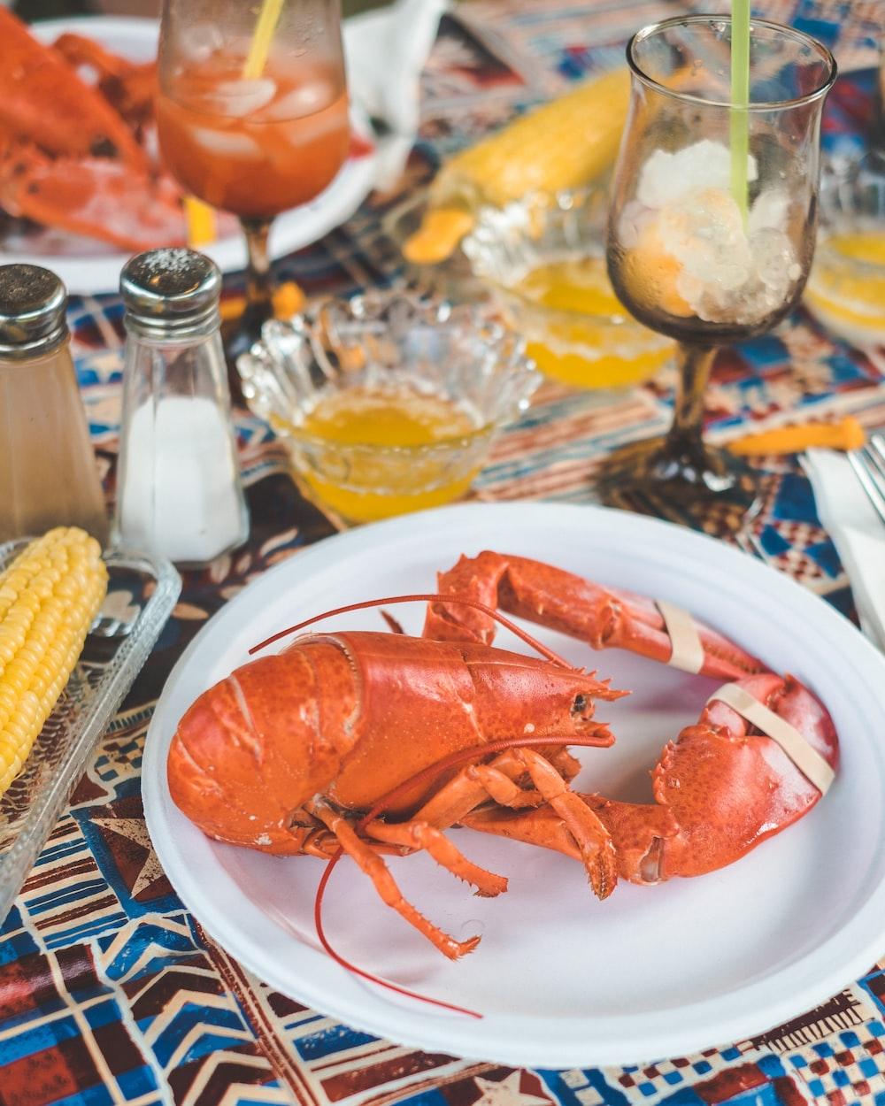 lobster in plate