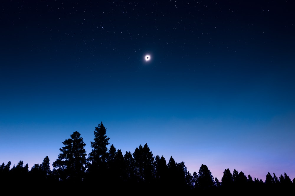 lunar eclipse view during night time