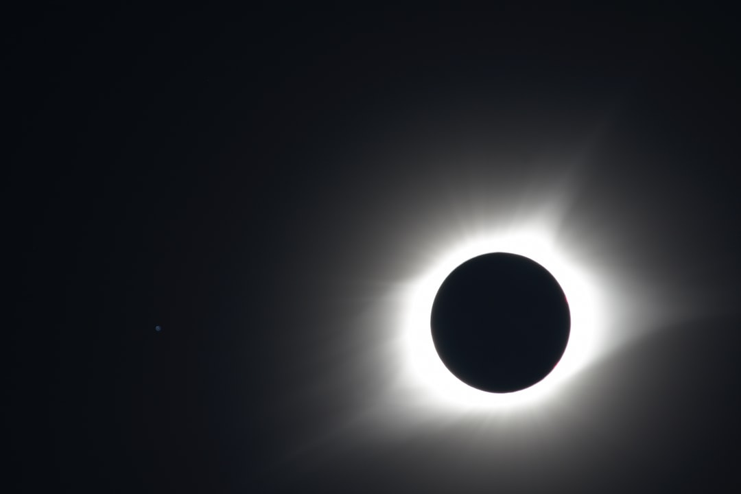"2017 Solar Eclipse shot in Hopkinsville, KY (""Eclipseville""). The Star Regulus can be seen just to the left of the eclipsed sun."