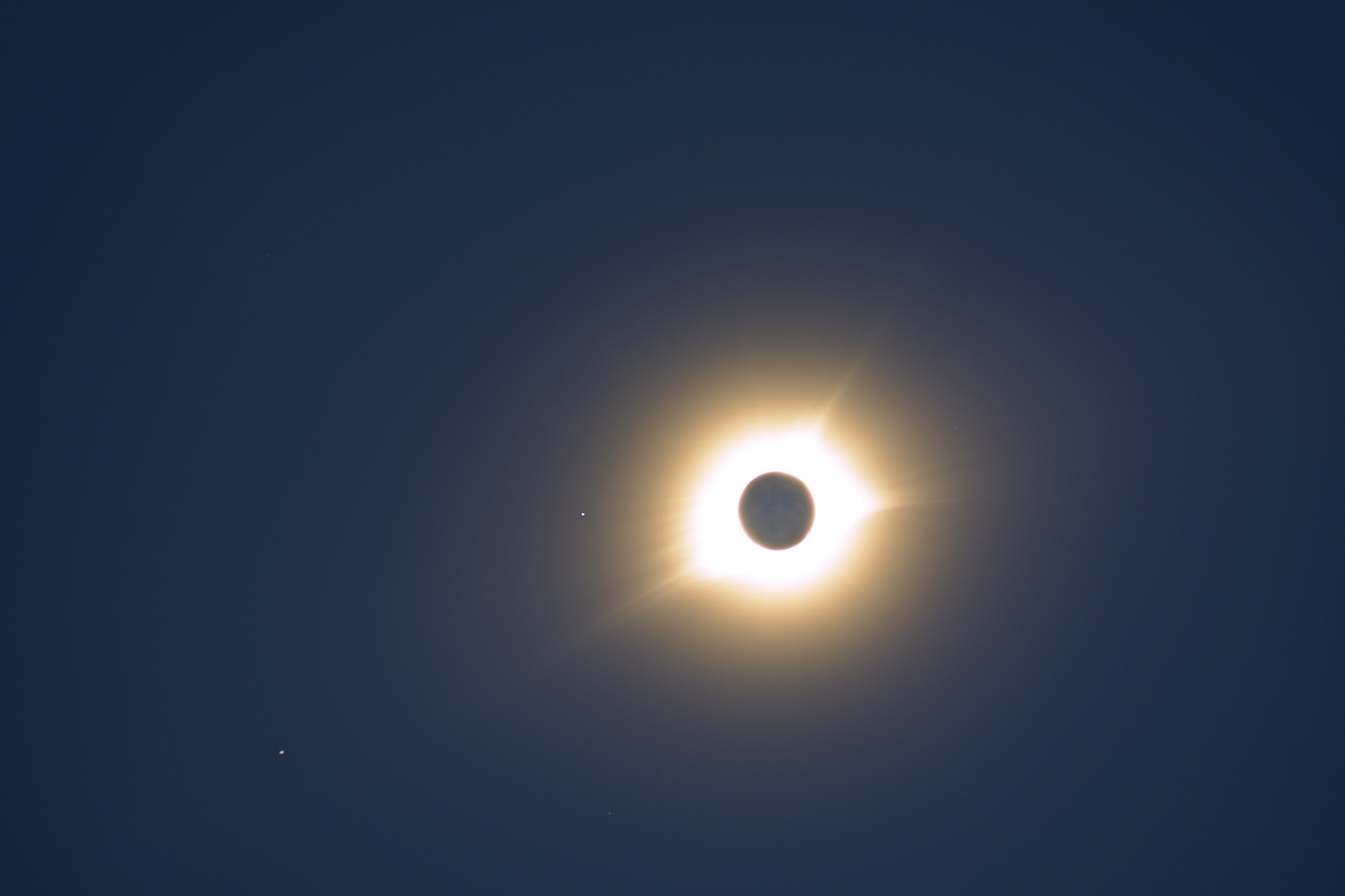A solar eclipse during the day.