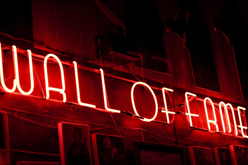 lighted wall of fame neon signage